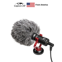 US Captain BY-MM1+ / MM1  Microphone Super-Cardioid Condenser Shotgun Studio Vlog Video Mic for Smartphone and DSLR Cameras