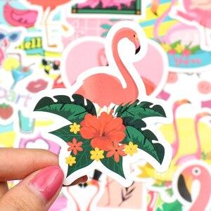 50 шт. стикеры Фламинго мечта животных милый аниме мультфильм стикер игрушки для детей подарок сделай сам ноутбук велосипед Канцтовары буты...