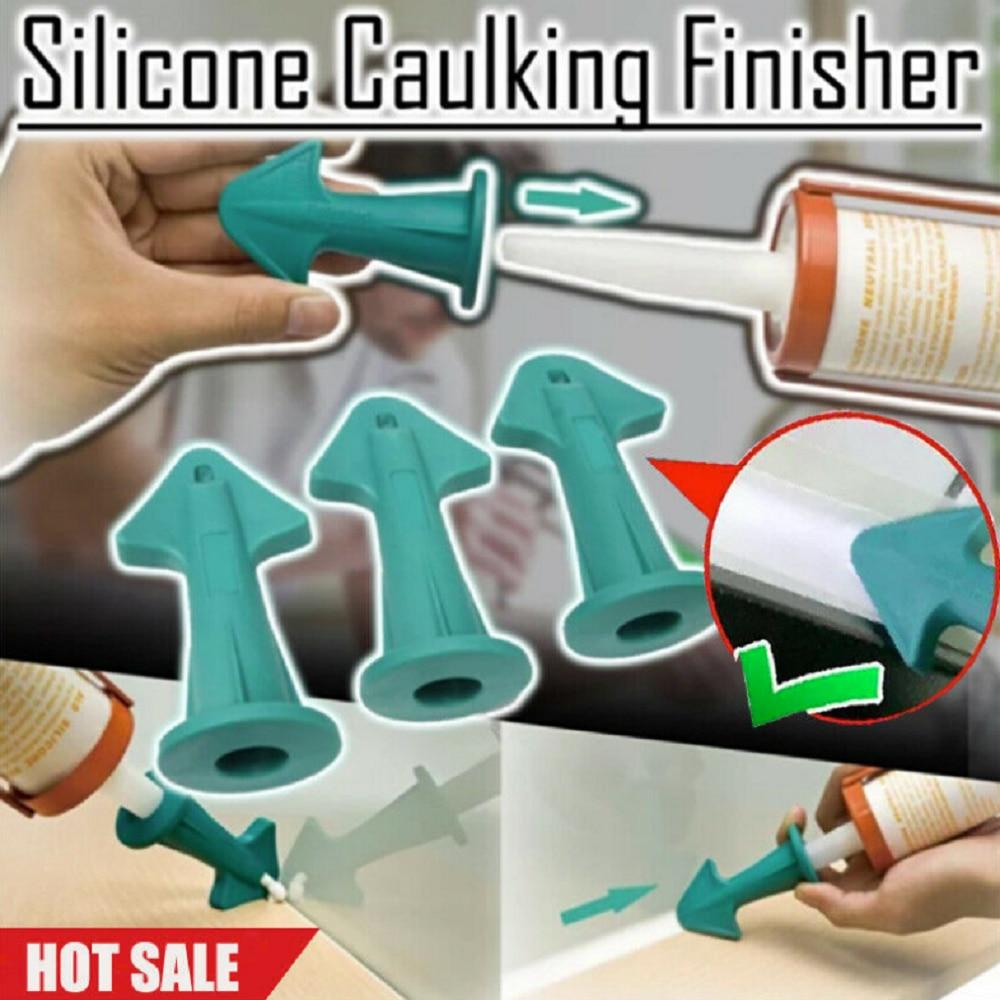 Caulking Finisher Nozzle Caulking Tools Silicone Sealant Finishing Tool Grout Scraper Silicone Caulking Tools Great Tools for Kitchen Bathroom Applicator Sealant Nozzle 3 Set of Caulk Nozzle