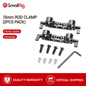 "Image 1 - SmallRig 경량 15mm railblock로드 클램프 1/4 "" 20 스레드 빨간색 및 기타 15mm DSLR 카메라 조작 2 Pcs   2061"