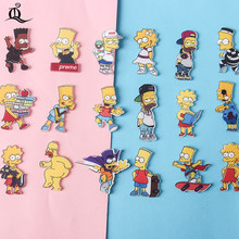 1PCS MIX the Simpsons Cartoon Icons on The Pin Kawaii Icon Badge Bacges on Backpack Badges for Clothing Acrylic Badges Z77