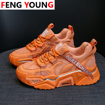 2020  Platform Sneakers Autumn New Arrival Women Shoes Chunky Casual Sneakers Vulcanize Shoes Mixed Colors Tenis Feminino