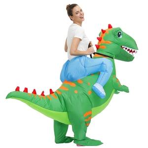 Image 2 - חם אנימה דינוזאור מתנפח תלבושות המפלגה קמע Alien חליפת תלבושות disfraz קוספליי ליל כל הקדושים תחפושות למבוגרים ילדים שמלה