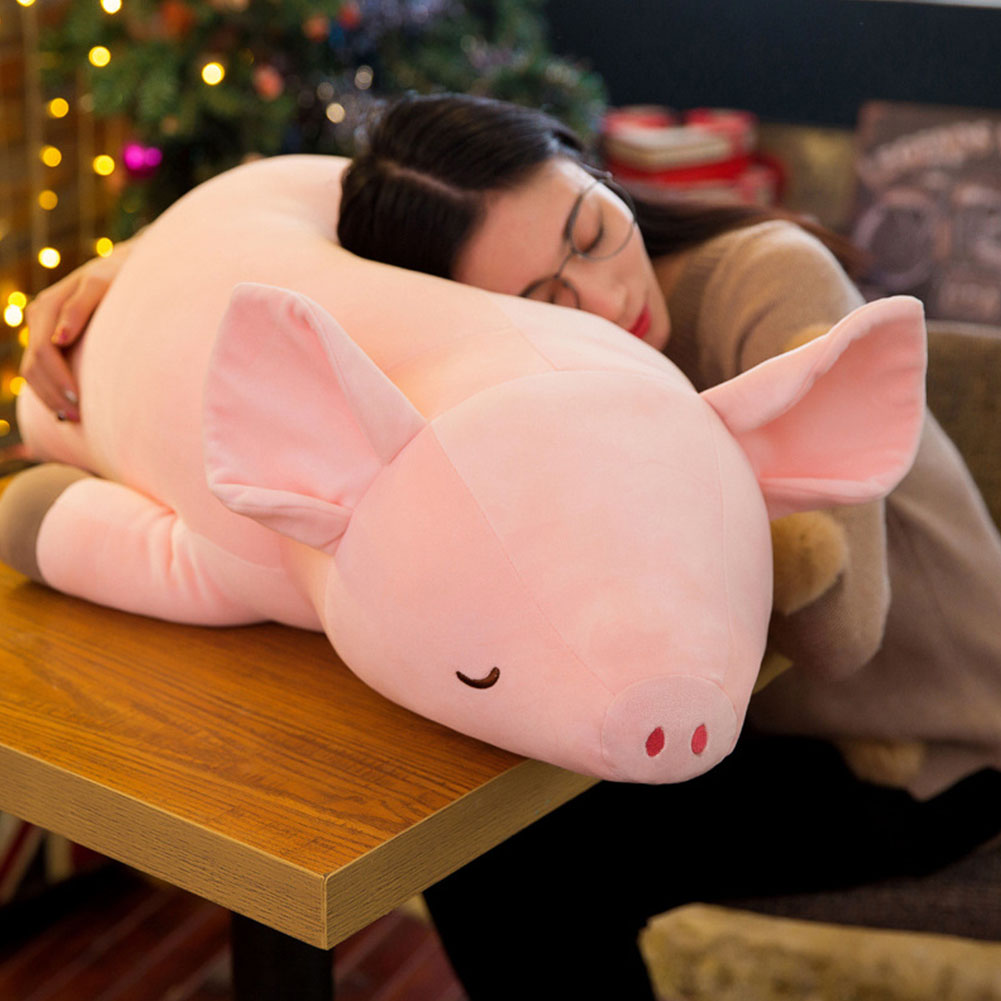 1 PCS 40 / 50 CM Pink Soft Cute Plush Toy Kawaii Pig Doll Style Soft Pillow Child Girl Gift Baby Sleeping Pillow