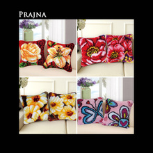 Handwerken Knooppakket Knoopkussen Foamiran For Needlework Latch Hook Pillowcase Cushion Embroidery DIY Cross Stitch