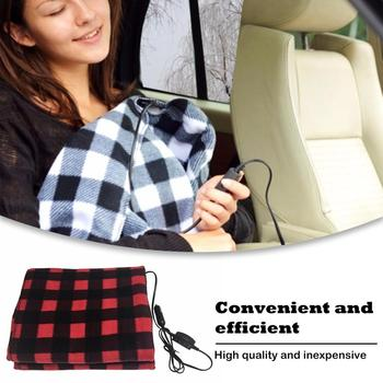 145*100Cm 12V Red Car Heating Blanket Lattice Energy Saving Warm Autumn And Winter Car Electric Blanket Automotive image