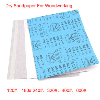 2PCS Dry Sandpaper For Woodworking 120# 180# 240# 320# 400# 600# 230*280mm image