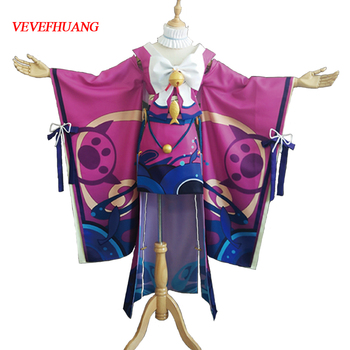 VEVEFHUANG Kосплей Anime! Onmyoji Cat Shopkeeper New Role Unawakening Lovely Kimono Lolita Dress Uniform Cosplay Halloween Party 1
