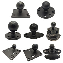 Jadkinsta 1 or 1.5 inch Rubber Ball Mount to Aluminum Motorcycle Round Square Mounting Base for Gopro Camera Cellphones