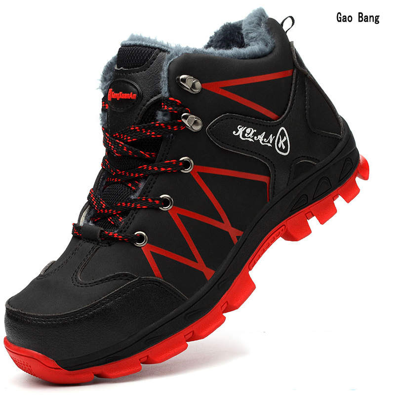 Winter Men Steel Toe Cap Anti-knock Puncture Hot High-top Work Safety Shoes Resistant Waterproof Snow Boots Man Indomitable image