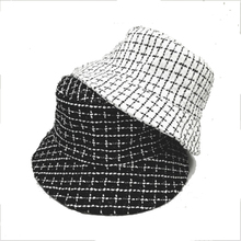 Summer Hats Spring Fisherman Reversible Fluffy Houndstooth Outdoor Women Casual Plaid