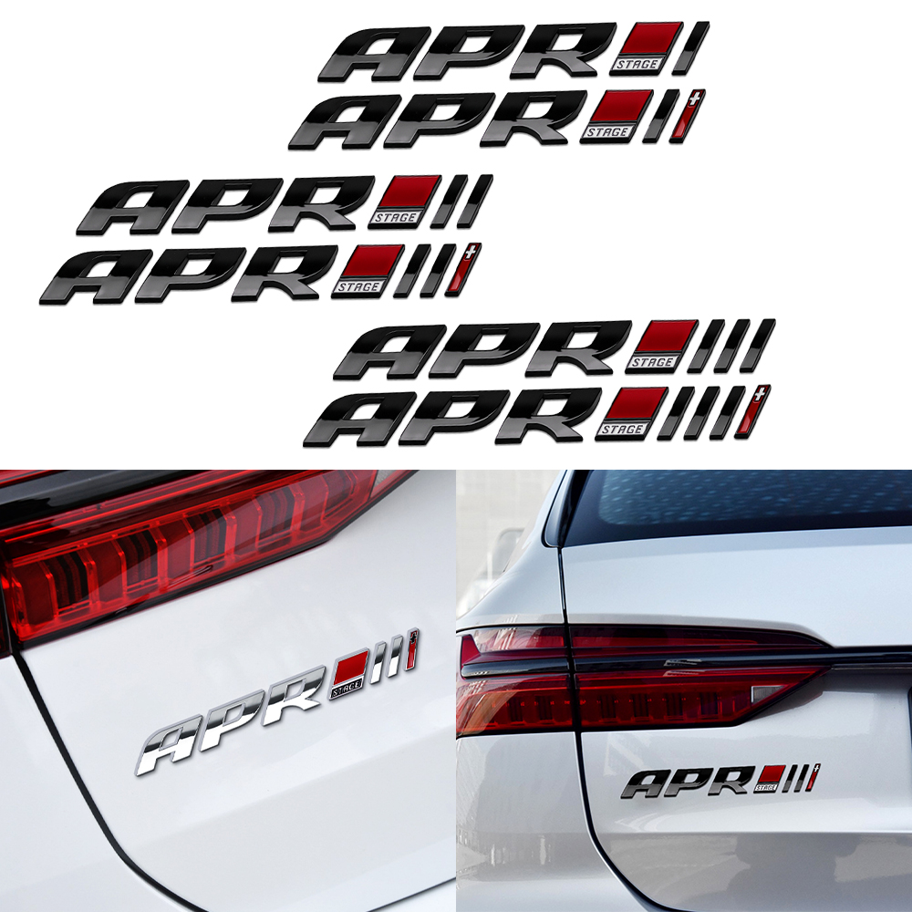 3D Abs apr phase iii + tail badge distinctive <font><b>sticker</b></font> for audi a4 a5 a4l q5 porsche volkswagen <font><b>golf</b></font> <font><b>6</b></font> 7 r20 gti car acessories image