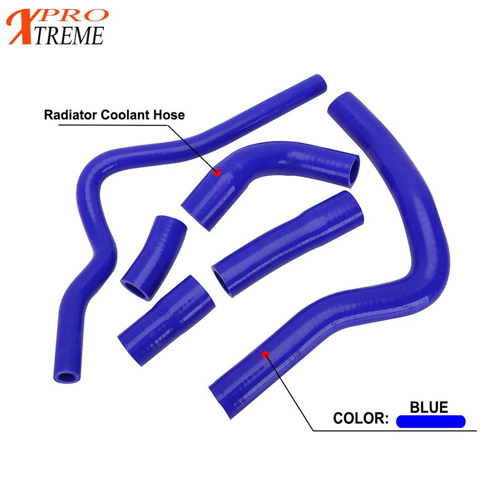 Motocross <font><b>Moto</b></font> Bike Blue Silicone Radiator Heater Coolant Pipe Water Hose For YAMAHA <font><b>YZF</b></font>-<font><b>R1</b></font> <font><b>YZF</b></font> <font><b>R1</b></font> YZF1000 2004 <font><b>2005</b></font> 2006 image
