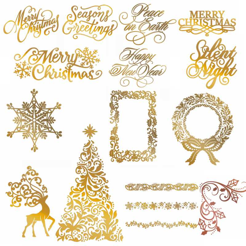 Cutting-Dies Foil-Plates Scrapbooking Photo-Album Snowflake Merry-Christmas Deer Metal