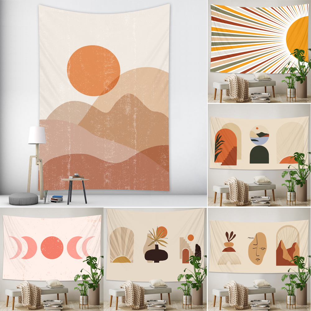 Simple and fresh wall tapestry Hippie bedroom home decoration tapestry Bohemian decorative Yoga mattress sheet