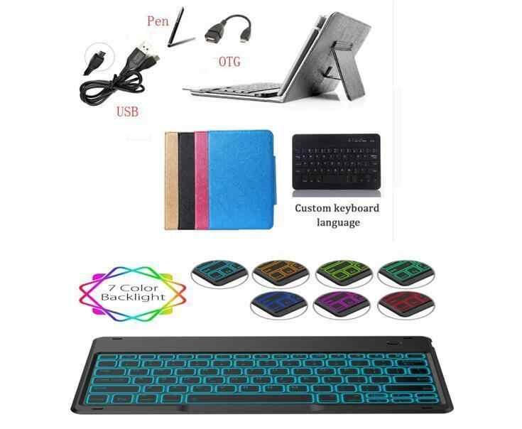 Touchpad Bluetooth Keyboard Cover Untuk Samsung Galaxy Tab S5E 10.5 SM-T720 SM-T725 T720 T725 tablet Case Lampu Backlit keyboard