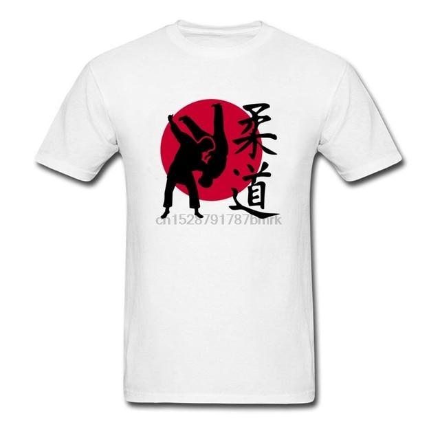 Camiseta arte marcial de algodão natural casual