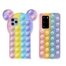 Caso do telefone móvel brinquedos para huawei p40 p30 pro companheiro 30 40 pro nova 7 8 anti-stress capa cabida lite casos de telefone brinquedos presente