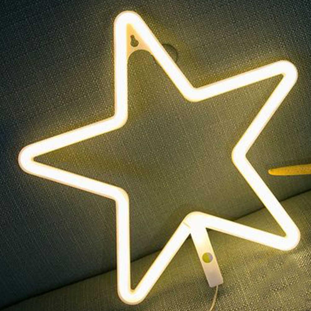 LED Neon ışık burcu aşk kedi düğün parti dekorasyon Neon lamba sevgililer günü duvar asılı ev dekor gece lambası noel hediyesi