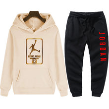 2021 new fashion best-selling men's pullover sweater cotton men's sportswear hoodie two pieces + pants sports shirt autumn and w