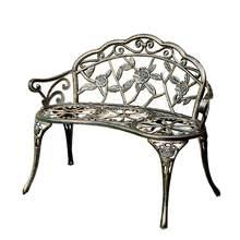 Silla de parque banco de ocio al aire libre Banco anticorrosivo asiento de hierro Patio jardín trasero balcón al aire libre silla Doble