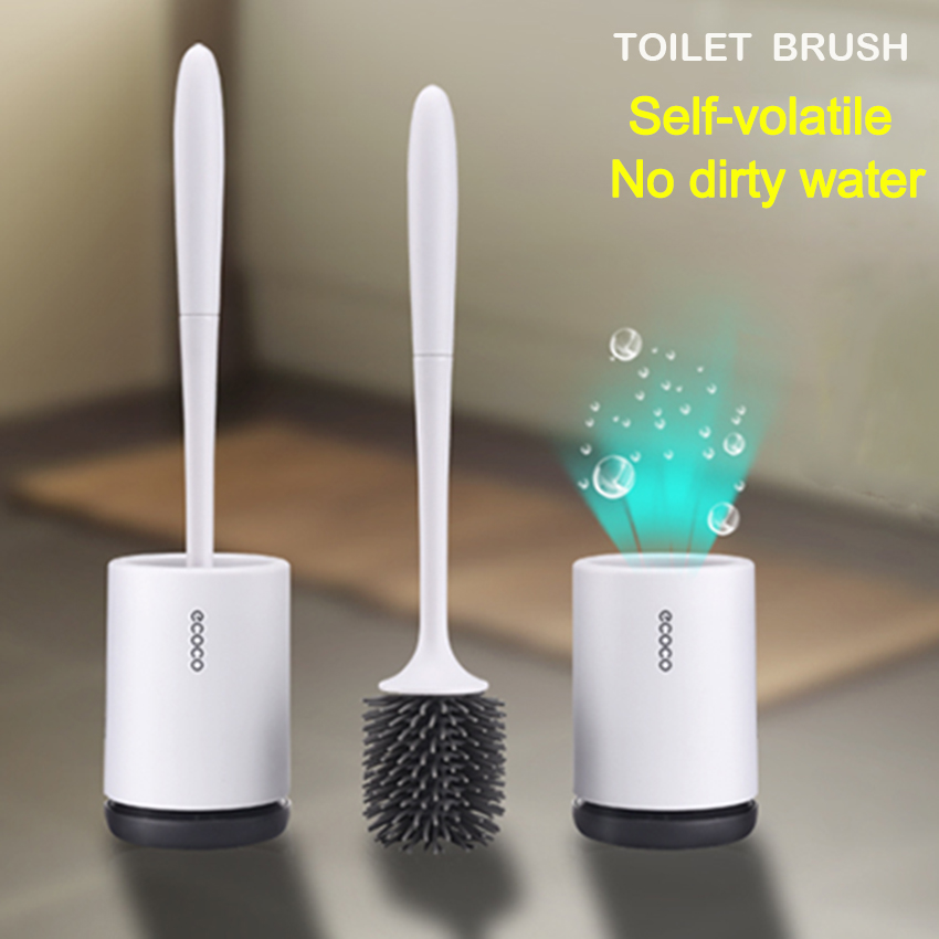 Toilet Bowl Brush Set Silicone Toilet Brush Toilet Cleaning Brush Kit  Upgraded Modern Design With Soft Bristle Bathroom