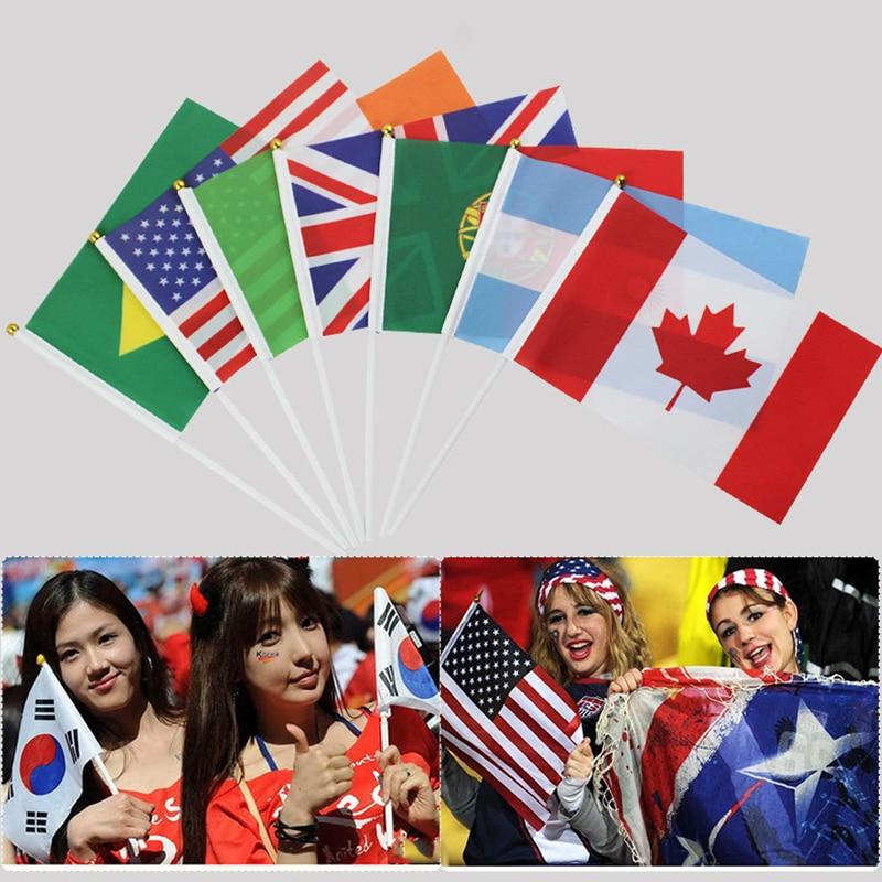 Терилен Мексиканский Флаг 30,5*21*0,5 см ручной Национальный флаг с принтом Австралийский флаг мода нейлон патриотические полосы