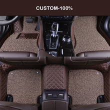 цена на HLFNTF Double Custom car floor mats for Cadillac ATS CTS XTS SRX SLS Escalade 5Dcar styling