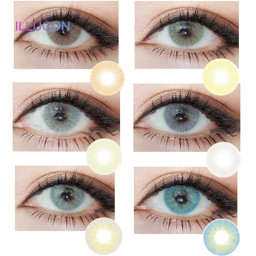 ILLUCON Colored Contact Lenses Color Lens For Eyes Colorful Cosmetic Natural Crystal Aurora Series