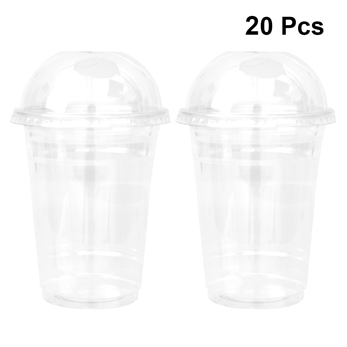 Cup Juice-Cups Takeaway-Packaging Dome-Lid Disposable Plastic Transparent Cold-Drinks