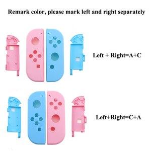 Image 2 - Ngọc Khê Hồng Tím Xanh Dương Vàng Xanh Cho Nintend Switch NS Joy Con Thay Thế Nhà Ở Vỏ Bao Da Cho NX Joycons Bộ Điều Khiển ốp Lưng