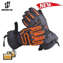Motorcycle Gloves Waterproof Heated Winter Battery Powered Moto Gloves Motorbike Racing Riding Keep Warm Electric Heating Glove savior motorcycle heating gloves riding racing biking winter sports electric rechargeable battery heated warm gloves cycling