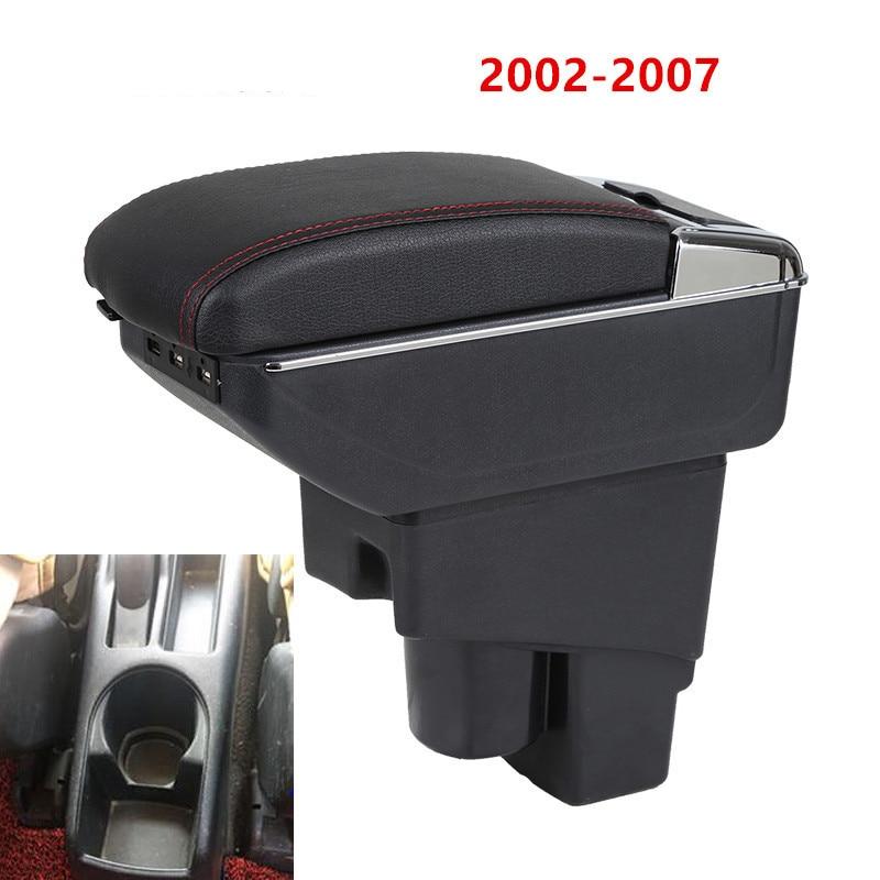 Подлокотник для Honda Fit Jazz 02-07, кожаный подлокотник для хэтчбека, центральный контейнер для хранения консоли 2003, 2004, 2005, 2006, 2007