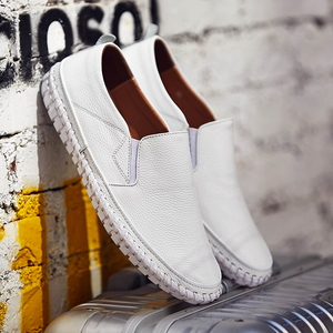 Image 5 - Genuine Leather Casual Slip On Mens Moccasins Men Shoes Loafers Mocassin Homme Footwear Man Topsiders High Quality Plus Size