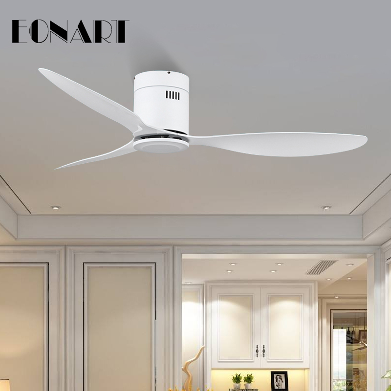 Amicable 52 Inch Modern Fashion Decorative Without Light Dc Ceiling Fan With Remote Control White Abs Ceiling Fans With Light Ventilador