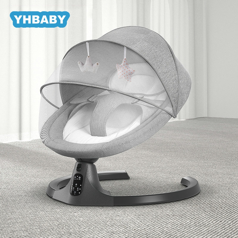 Baby Swing Multifunctional Aluminum Alloy Baby Rocking Chair Electric Baby Cradle With Remote Control Cradle Rocking Chair