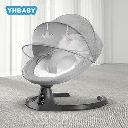 Chaise à bascule électrique pour bébé | Balançoire multifonctionnelle en alliage d'aluminium, berceau pour bébé, à bascule avec télécommande