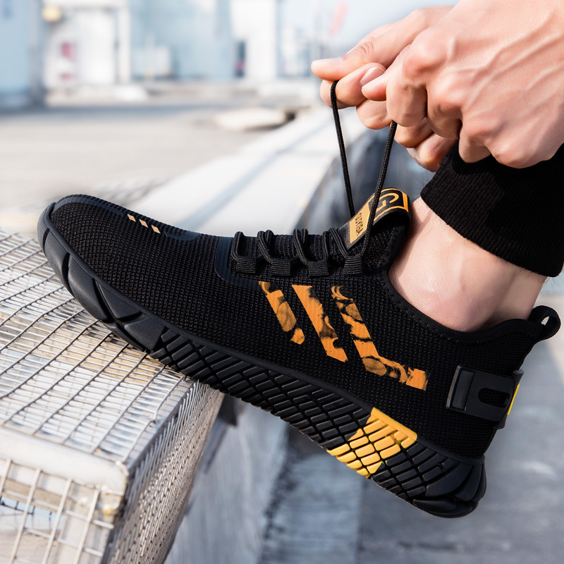 2020 New Breathable Men Safety Shoes Steel Toe  Non-Slip Work Boots Indestructible Shoes Puncture-Proof Work Sneakers Men 5