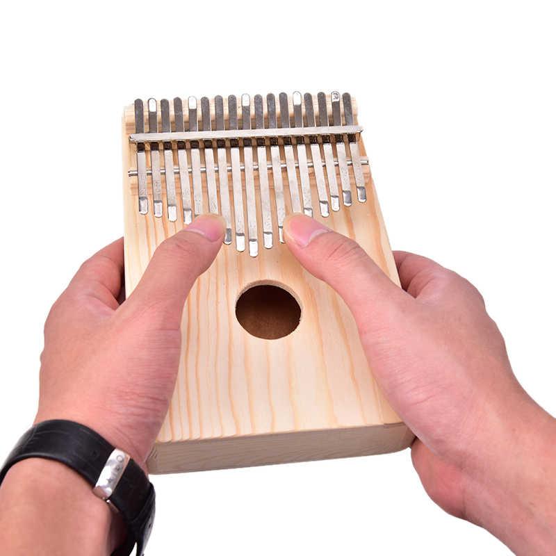Nowe drewniane instrumenty muzyczne 17 klucz Kalimba afryki solidna sosna mahoń kciuk palec fortepian Sanza Mbira Calimba grać z gitarą