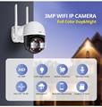KERUI Outdoor Waterproof Wireless 3MP WiFi IP Camera Dome 4X PTZ Digital Zoom IR Camera Home Security Onvif CCTV Surveillance