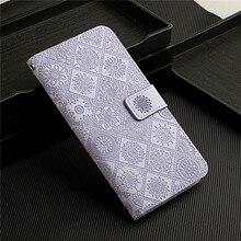 Nieuwe Voor Coque Samsung Galaxy A71 Funda Lederen Portemonnee Flip Case Voor Een Samsunga 71 A715 SM A715F Rooster Bloem Telefoon cover