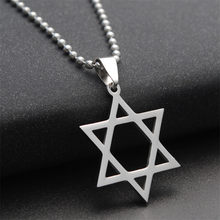 316L Stainless steel Star of David Fashion Charms Necklaces for Women Statement Israel Supernatural Pendants jewish Jewelry(China)