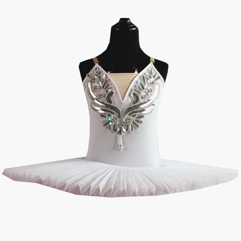 White Belly Dress For Kids Swan Lake Costume Ballet Tutu For Girls Dance Costume Stage Professional Sequined Flower Appliqued swan lake ballet tutu costume for girls children ballerina dress kids ballet dress belly dance wear princess tutu skirts