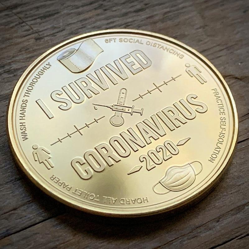 Забавный сувенир, коллекционная золотая монета, старая коллекция, немецкая монета, золотой серебряный значок, металлические немецкие памят...
