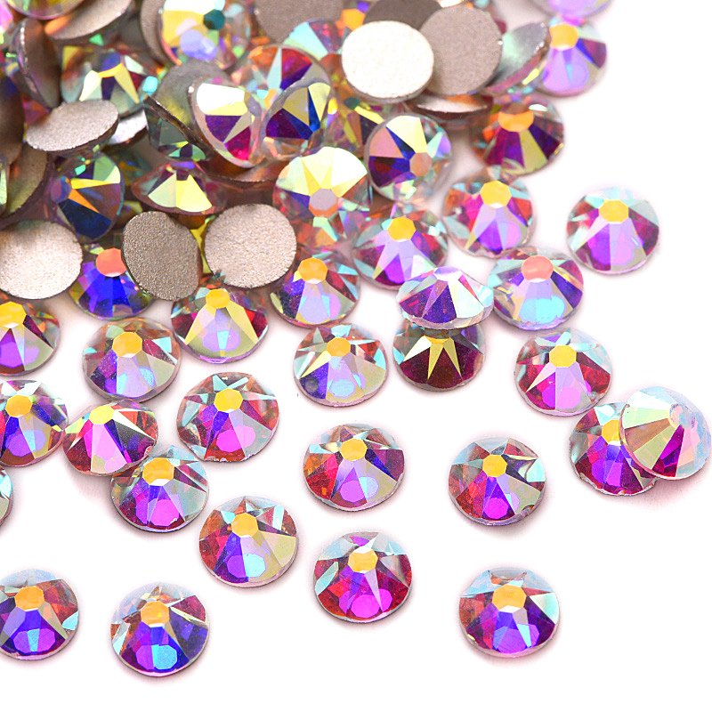 Excellent Best Quality Crystal AB Nail Rhinestone Flatback Many Sizes Non Hot Fix Rhinestones 2088 Style 16 Cut Facets Y3623