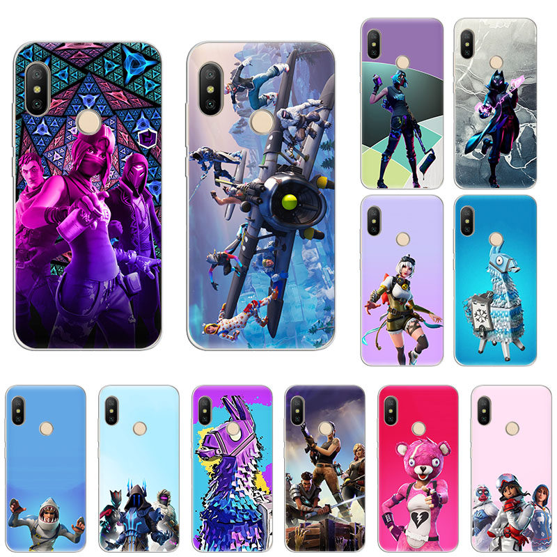 Hot game fire FN battle royale Soft silicone Case For Xiaomi Mi Note10 9T CC9 9 A3 A2 6x Redmi Note 8T 8A 7 5 6 4x monsters lama image