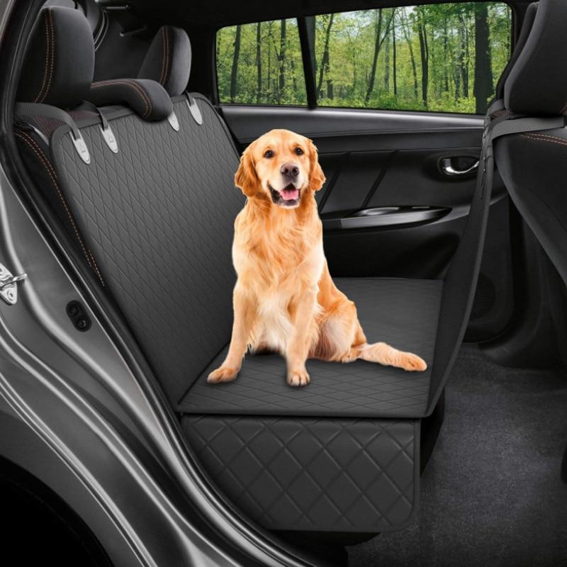 Capa de assento do carro do cão esteira do carro à prova dwaterproof água portador do cão de estimação carros traseira do assento da esteira do protetor de almofada da rede esteira antiderrapante dobrável