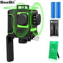 CE Certificated 3D 12 Lines Green Laser Level 15 Hours Working Time Horizontal And Vertical Lines Work Separately Laser Lines