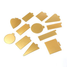 100 Mousse pçs/set Placas De Papelão Bolo Mini Bolo Queque Bolo Pastelaria Sobremesa Bandeja de Base de Papel De Prata De Ouro Decorativa Do Partido Kit