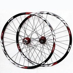 26 27.5 29inch MTB mountain bicycle bike CNC front 2 rear 4 sealed bearings bicycle Disc brake wheel set 7/11 Speed Rim Wheelset